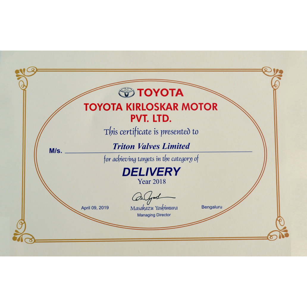 Awards and Certifications - Triton India   Challenging